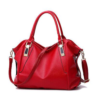 Rot Leder Damentasche Shopper Tasche Bag Handtasche Schultertasche Umhängetasche
