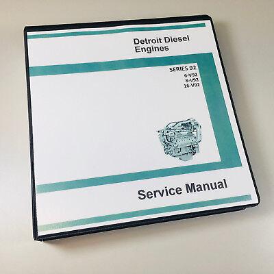 Detroit Diesel Motor Serie (GM Detroit Diesel Serie 92 V92 6V92 8V92 16V92 Motor Servicehandbuch Geschäft)