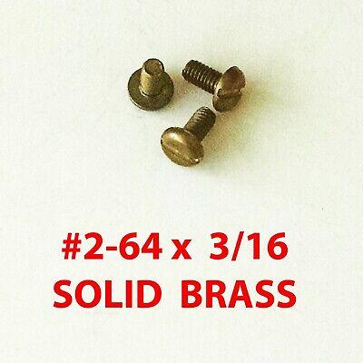 Machine Screws Solid Brass 2-64 X 316 50 Straight Slot Drive - 711014