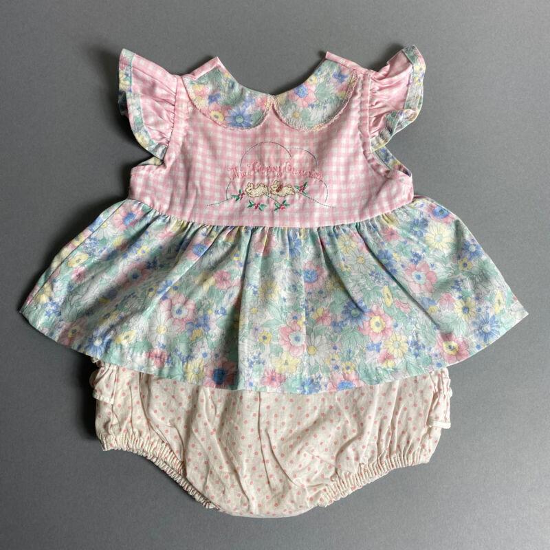 Vintage Peter Rabbit Baby Girl 6M Flopsy Bunnies Top & Plastic Pants/Bloomer Set