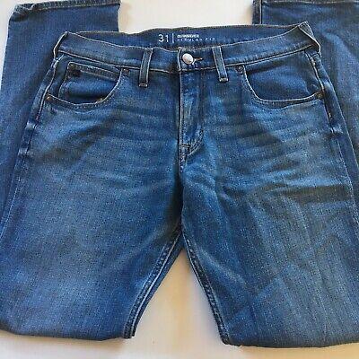 Quicksilver Estilo Mens Blue Jeans 31x32 Regular Fit 98% Corton 2% Elastane