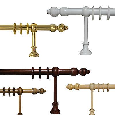 Gardinenstangen Vorhangstangen 28 mm, Holz und Metall/Kunststoff