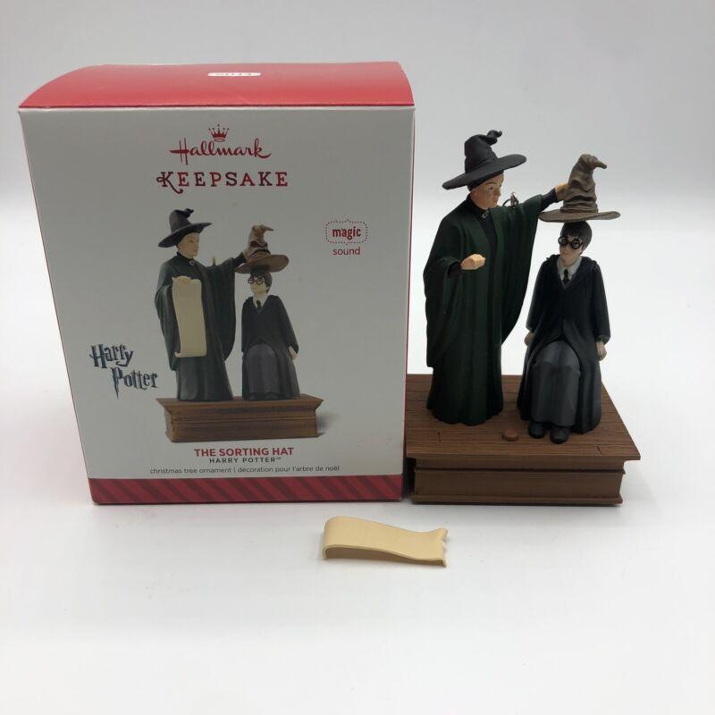 BROKEN SCROLL! Hallmark Keepsake Harry Potter The Sorting Hat Magic Ornament