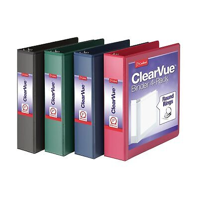 Cardinal 3 Ring Binders 2 Inch Binder With Round Rings Holds 475 Sheets Cl...
