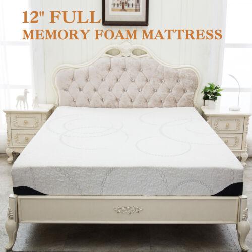 "12"" Inch Full Size COOL & GEL Memory Foam Mattress Pad Bed M"