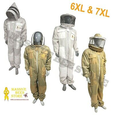 3 Layer Ventilated Suit Round And Fencing Veil Bee Suit Beekeeper 6xl 7xl