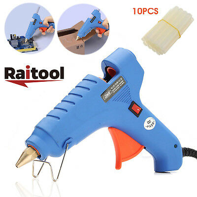 (Raitool 60W Electric Hot Melt Craft Heating Glue Gun Dispenser + 10 Glue Sticks)