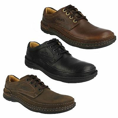 NATURE THREE MENS CLARKS LACE UP CASUAL EVERYDAY ACTIVE AIR LEATHER SHOES SIZES