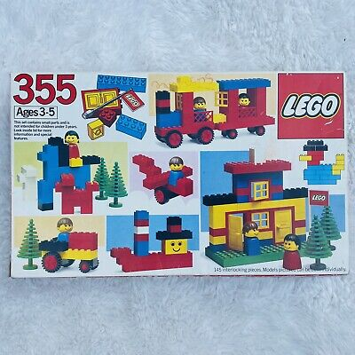 Vintage LEGO 355 & 566 Universal Building Set Original Box Instructions Combined