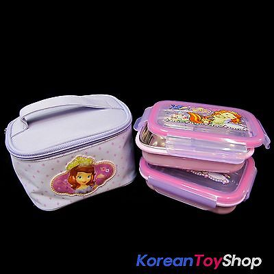 Disney Sofia the First Stainless Steel Insulated Lunch Box 2 pcs Advanced Type