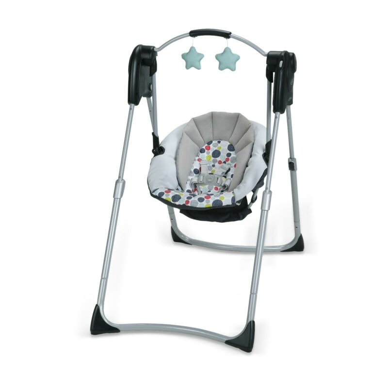 Graco Slim Spaces Compact Baby Swing, Etcher Edition.  Gray Unisex baby swing