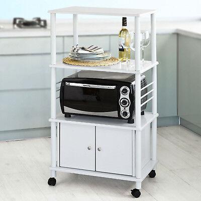SoBuy® Küchenwagen,Küchenschrank, Rollschrank, Küchenregal,weiß,FRG12-W