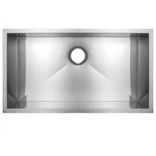 "32"" X 18"" X 9"" Handmade Kitchen Sink Single Bowl Basin Undermount Stainless"