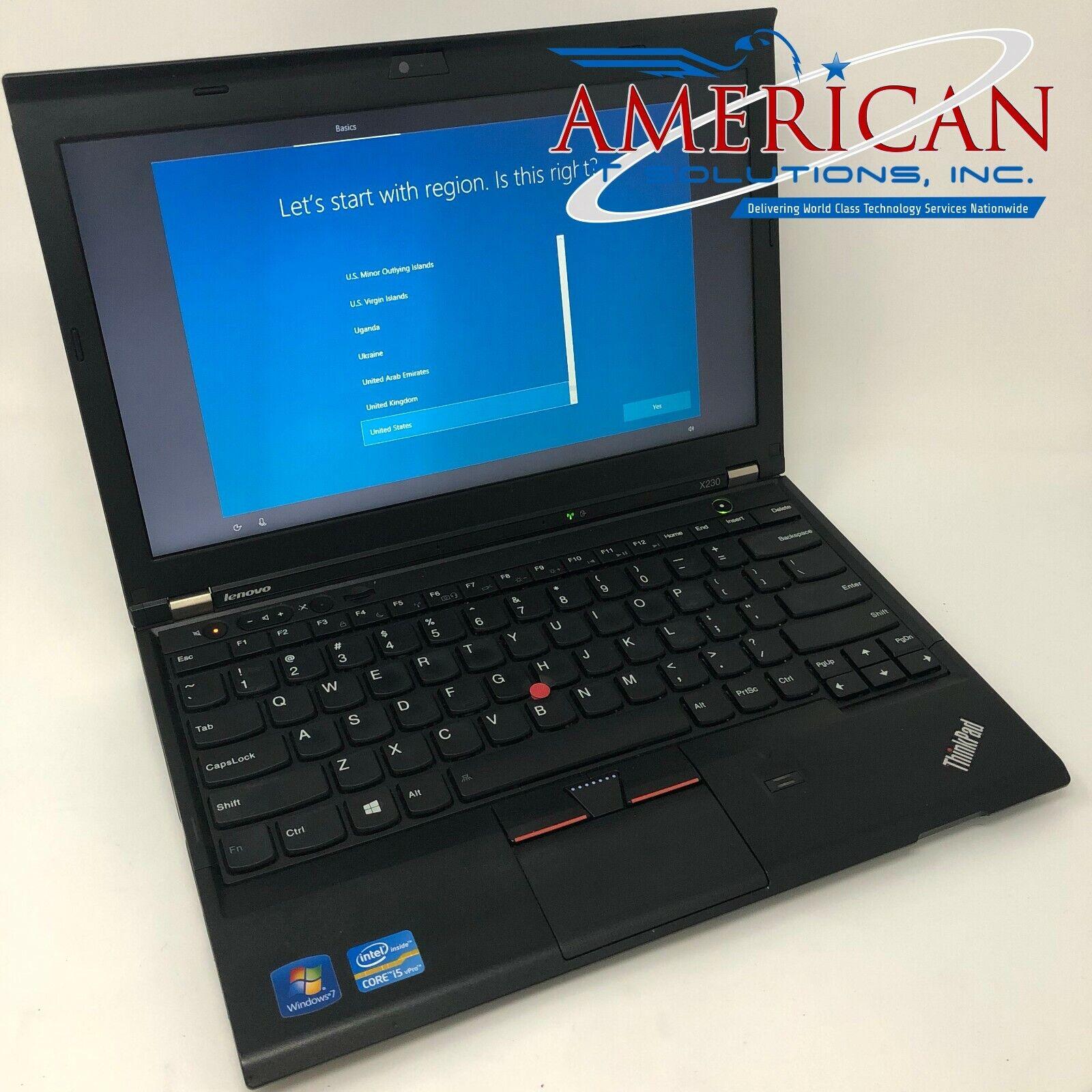 Laptop Windows - Lenovo X230 - Core i5 @ 2.60GHz - 8GB RAM - 128GB SSD - Webcam - Windows 10 Pro