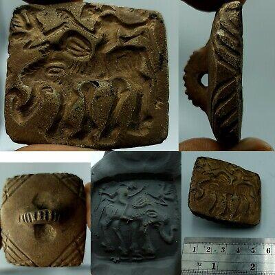 Ancient rare near eastern intaglio seal stone stamp #171