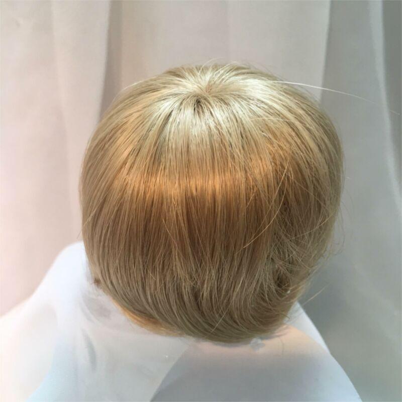 "7/8"" Partial Cap Blonde Doll Wig Reborn OOAK BJD Bisque Repair BABY"