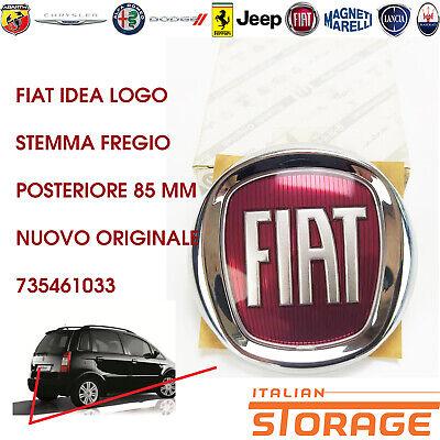 Fiat Idea Logo Emblema Friso Trasero 85MM Nuevo Original 735461033