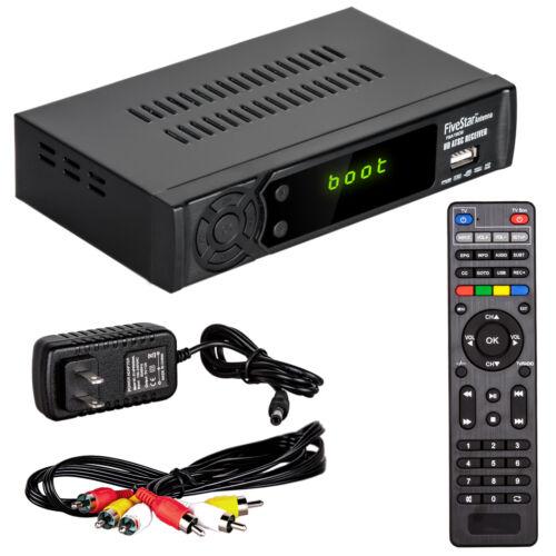 Digital Converter Box for TV & HDMI Cable & Remote View/Record Local HD TV