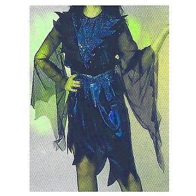 Hexe Casablanca blau 36 38 Halloween Kleid Hexenkostüm - Blau Hexe Kostüm