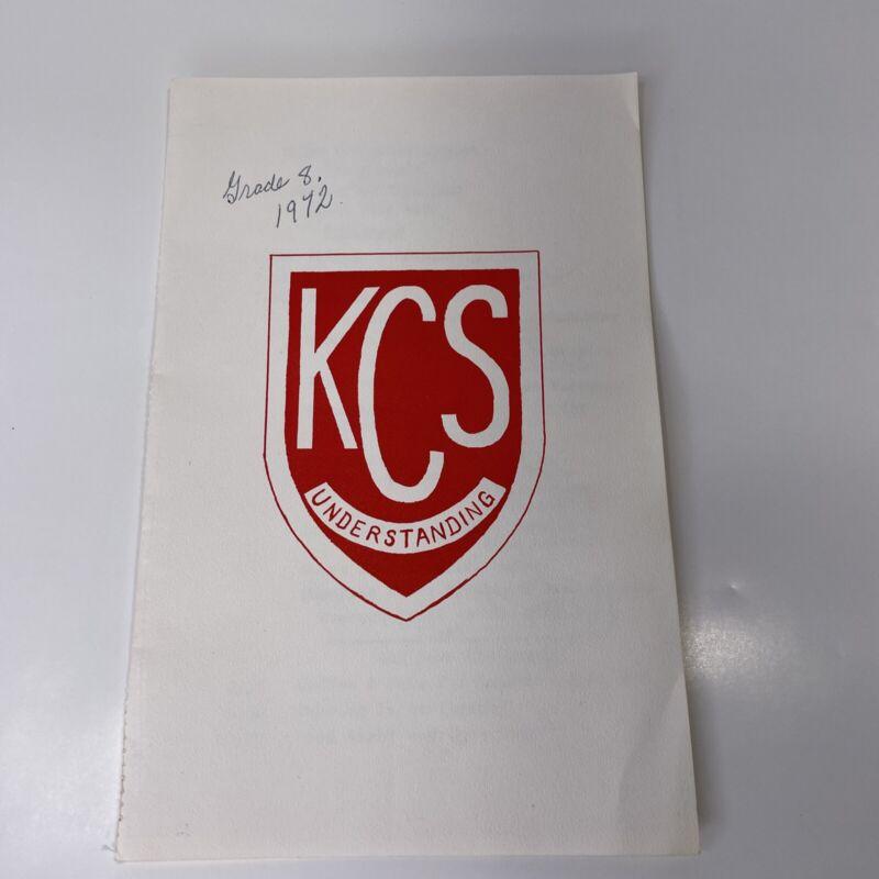 Vintage 1972 Kirby Centennial Public School Clarington Ontario Canada Pamphlet