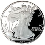SilverTowne 2014 Silver American Eagle Struck in 5oz .999 Silver Medallion