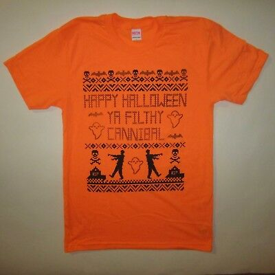 happy halloween ya filthy cannibal t shirt costume idea funny cute zombie ghost  - Ghost Halloween Costume Ideas