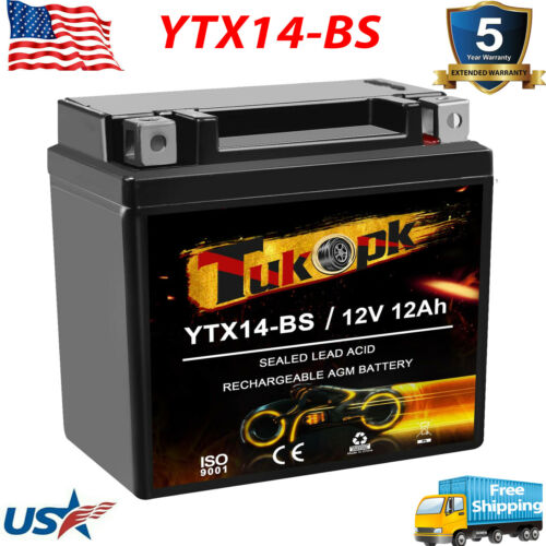YTX14-BS Weize High Performance - Maintenance Free - Sealed ETX14 BS ATV Battery