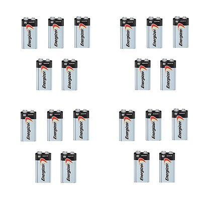 Energizer Max 9V 9 Volt 522 Alkaline Batteries Bulk 20 pk