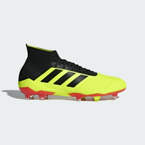 adidas Predator 18.1 FG Soccer Cleats Sizes 8-11 Solar Yellow Black Red DB2037