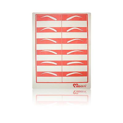 Permanent Makeup Nadel Übungshaut flach rot Brauen verschiedene Stückzahlen ()