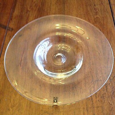 Langham Large Glass Dish Hand Made British Plate Old Art Glass.