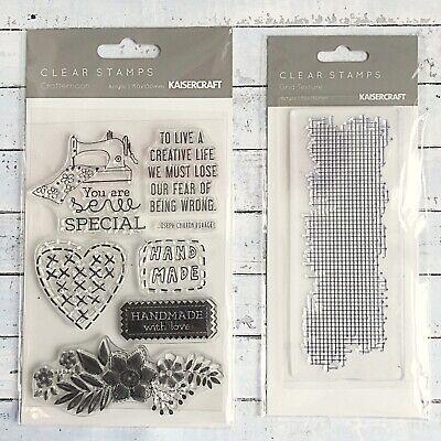 Kaisercraft Crafternoon & Grid Texture Stamp Sets
