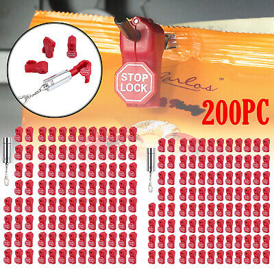 200pcs Retail Security Stop Lock 6mm Detacher Key Anti-theft Ask For Help Hook