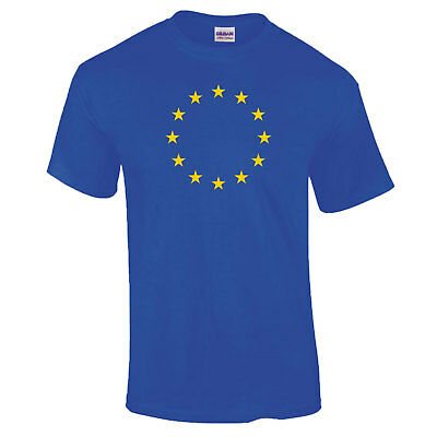 European Union Eu Stars Flag Brexit Remain Royal Blue Gift T Shirt Up To 5Xl