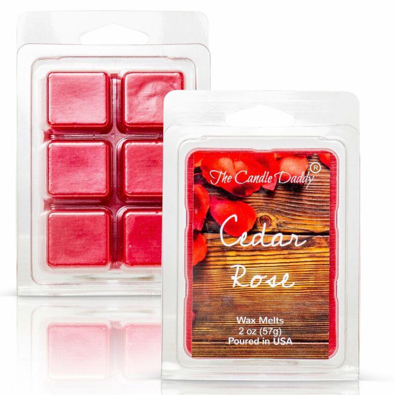 Cedar Rose - Floral Cedar Rose Champagne Scented Melt- Maximum Scent Wax Cubes/M
