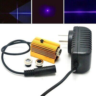 50mw 405nm Violetblue Dot Line Cross Laser Diode Module 5v Adapter Heatsink