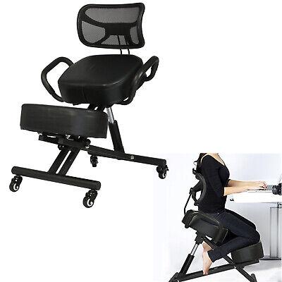 Adjustable Ergonomic Kneeling Chair Posture Stool Seat Home Office Back Support