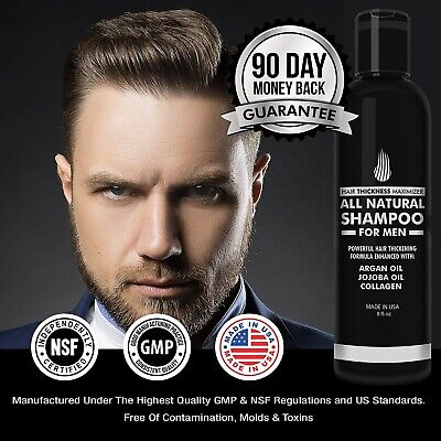 Hair Growth & Thickening Shampoo for Men. Best Treatment for Thinning/Hair