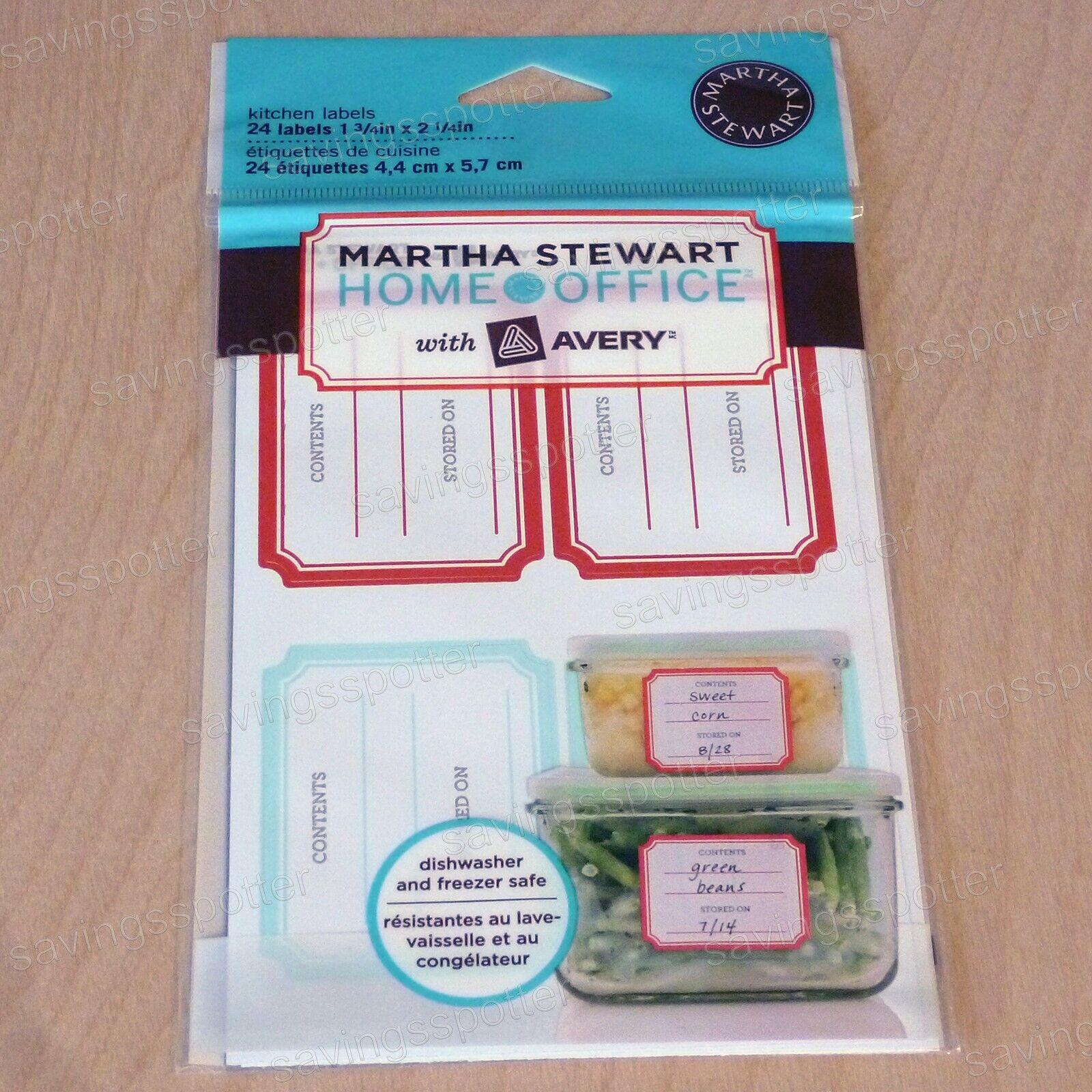 "Avery kitchen labels 24-1 3//4/"" x 2 1//4/"" Martha Stewart Home Office"