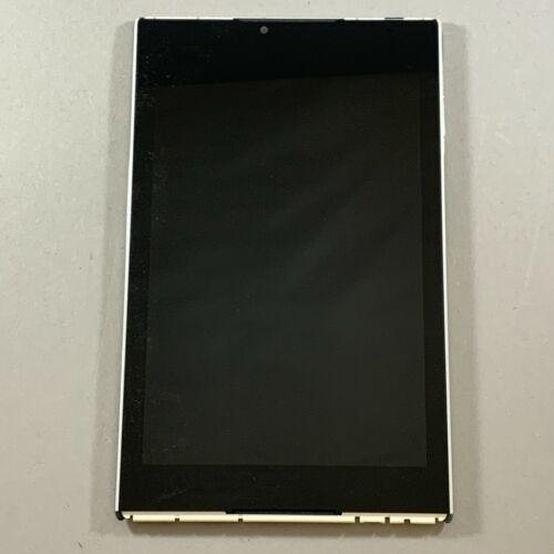 "Verizon 8"" HD Ellipsis Assembly LCD Screen Digitizer Glass & Frame QTASUN1 White"