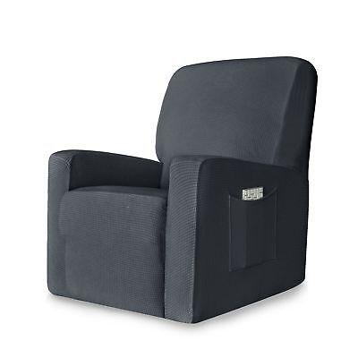 CHUN YI 1-Piece Stretch Spandex Jacquard Chair Slipcovers