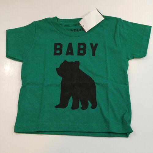 Baby Bear Boys Grils Size 3T Green T-Shirt Short Sleeves
