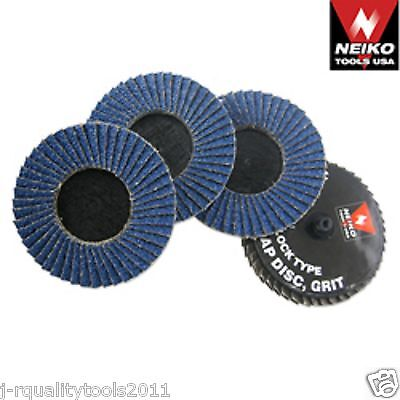 10 Pc Neiko Tools Usa 3 Roloc Sanding Flap Discs Zirconia 80 Grit W Mandrel
