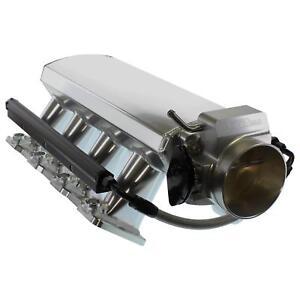 102mm LS LS1 LS2 LS6 Intake Manifold Throttle Body Sheet Metal Fabricated Silver