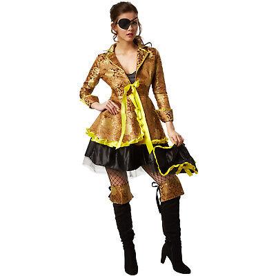 Frauenkostüm Korsarin Piratenkostüm Seeräuber Fasching Karneval Damen Kostüm  ()