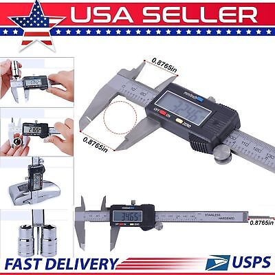 150mm 6inch Lcd Electronic Digital Gauge Vernier Caliper Stainless Steel Ruler