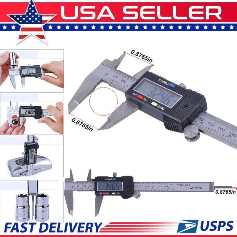150mm / 6inch LCD Electronic Digital Gauge Vernier Caliper Stainless Steel Ruler