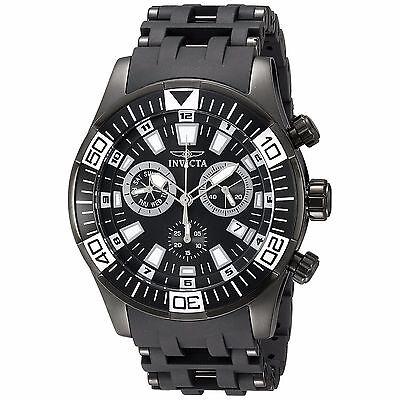 Invicta Men's Sea Spider 19533 Black Polyurethane Band Quartz Chronograph Watch