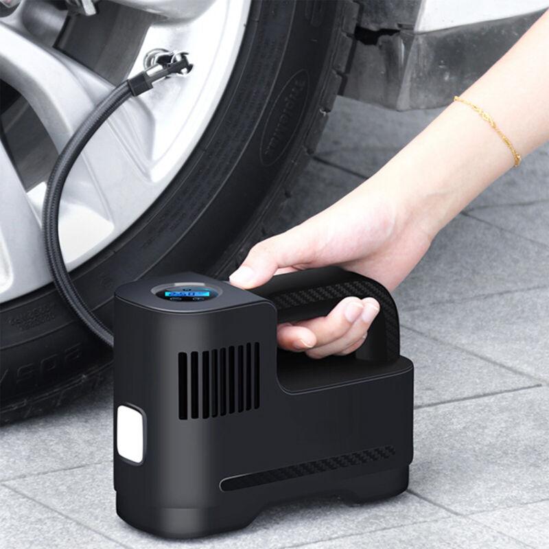 12V Car Tire Inflator Portable 150 PSI Air Pump Compressor Auto-off w/ LED Light