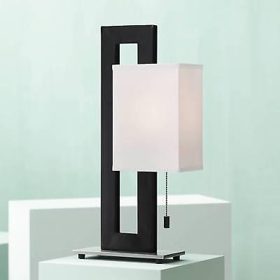 Modern Accent Table Lamp Black Metal White Floating Box for Living Room Bedroom - Living Room Table Lamp